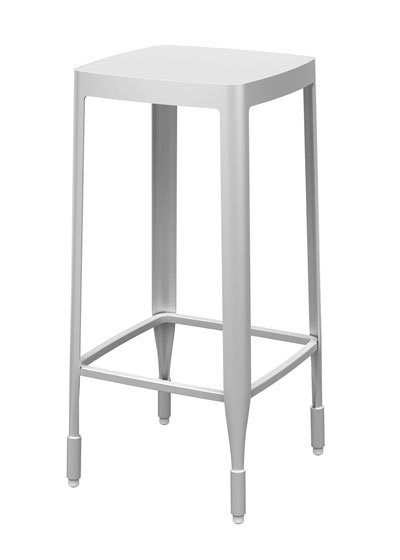 Super Metal Bar Stool 4A Aluminum And Leather Furniture Eoq Machost Co Dining Chair Design Ideas Machostcouk