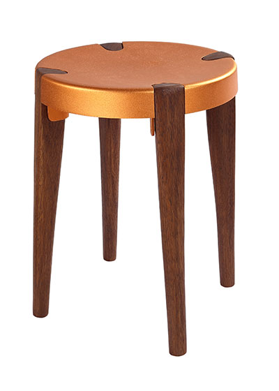 Otto Low Copper Walnut stool - EOQ