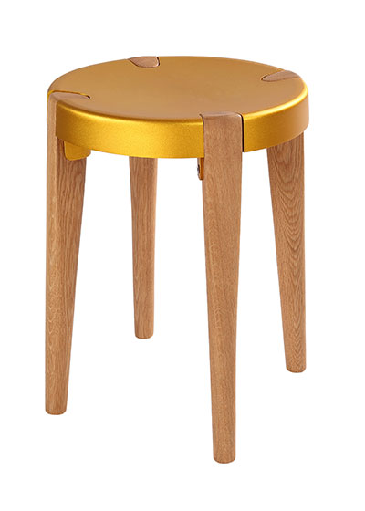 Otto Low Gold Oak stool - EOQ