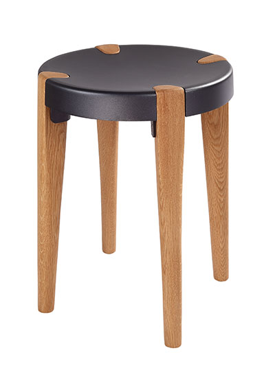 Otto Low Grey Oak stool - EOQ