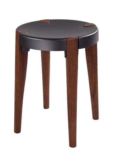 Otto Low Grey Walnut stool - EOQ