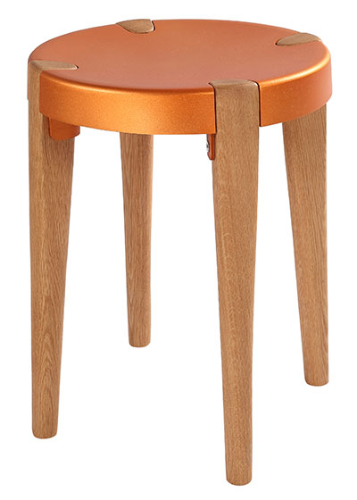 Otto Low Copper Oak stool - EOQ