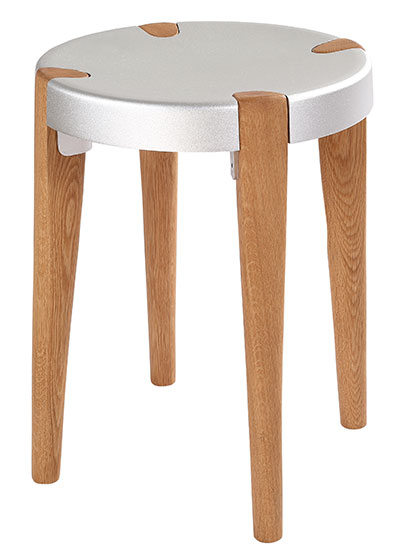 Otto Low Silver Oak stool - EOQ